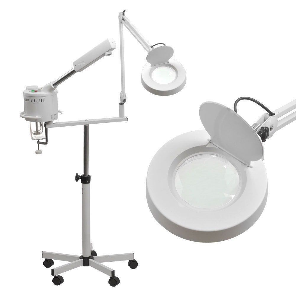 2 in 1 Magnifying Lamp Facial Steamer