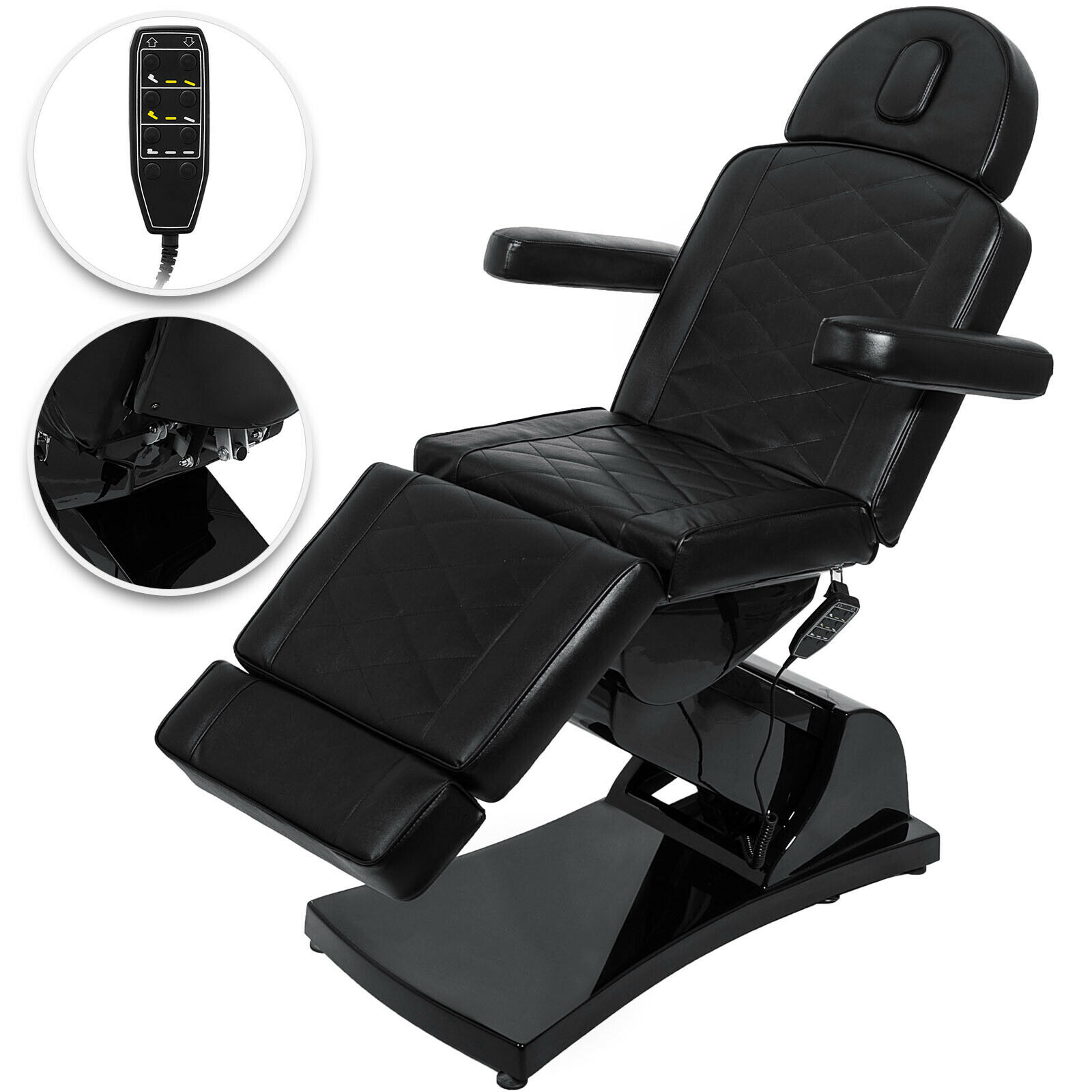 Professional 4 Motor Beauty or Teeth Whitening Chair - Black