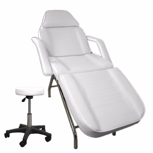 Beauty Chair and Stool - Professional White