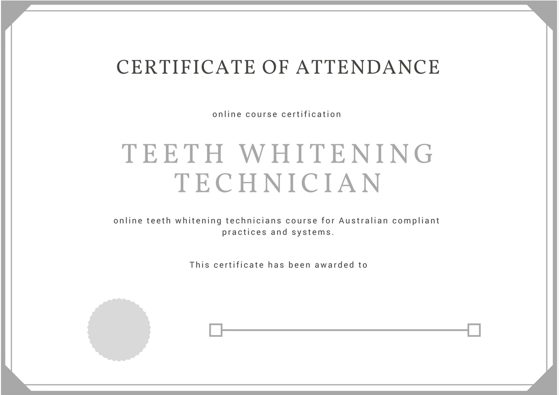 Teeth Whitening Certificate