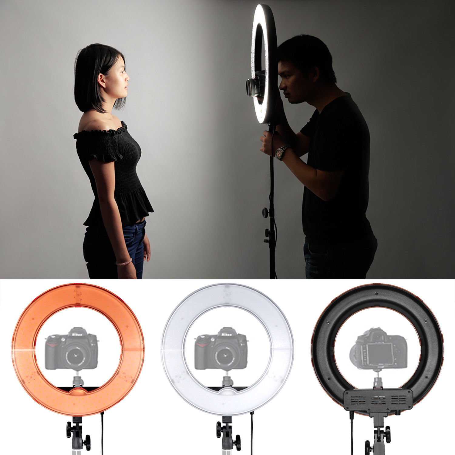 Professional Portable LED Photography Ring