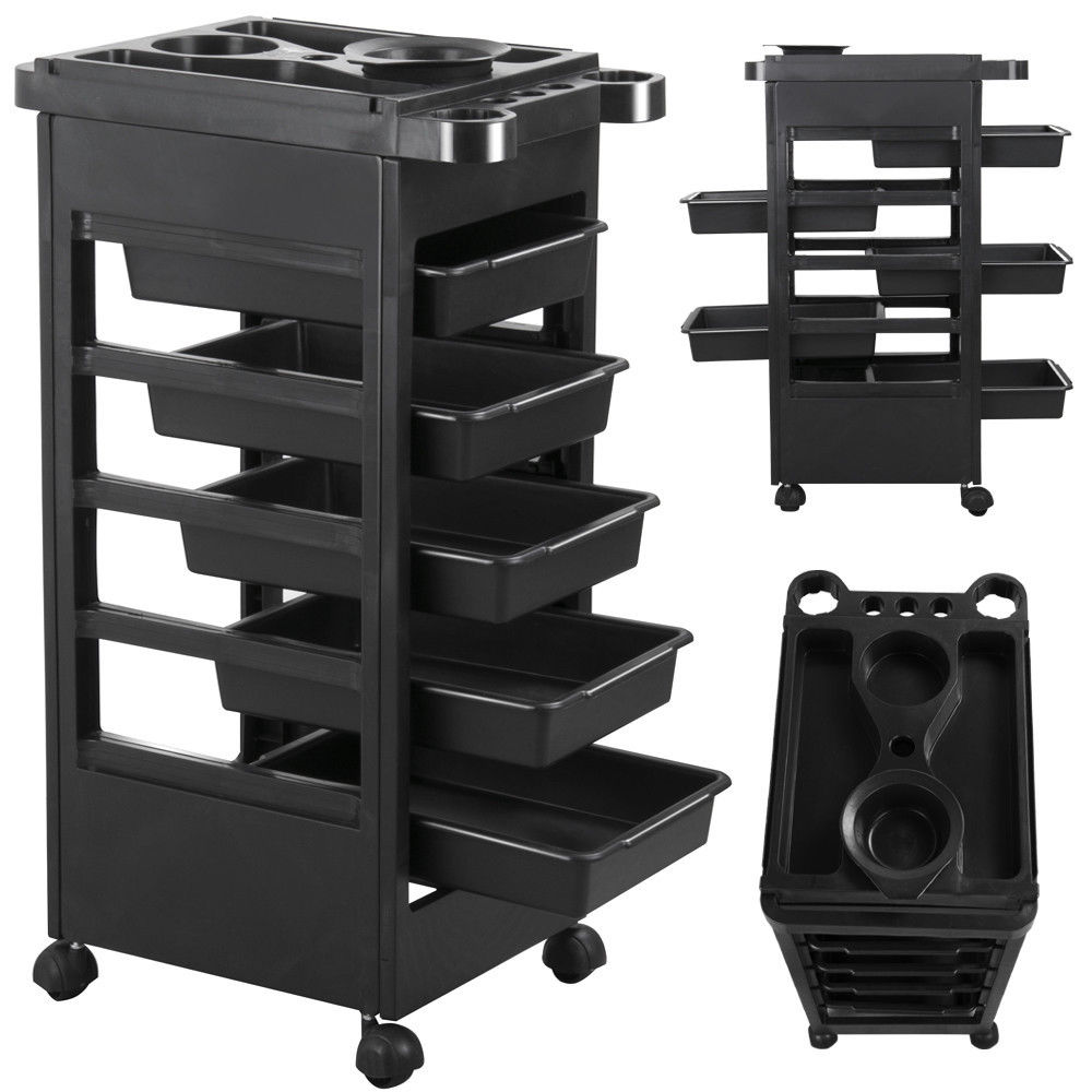 Salon Trolley Black
