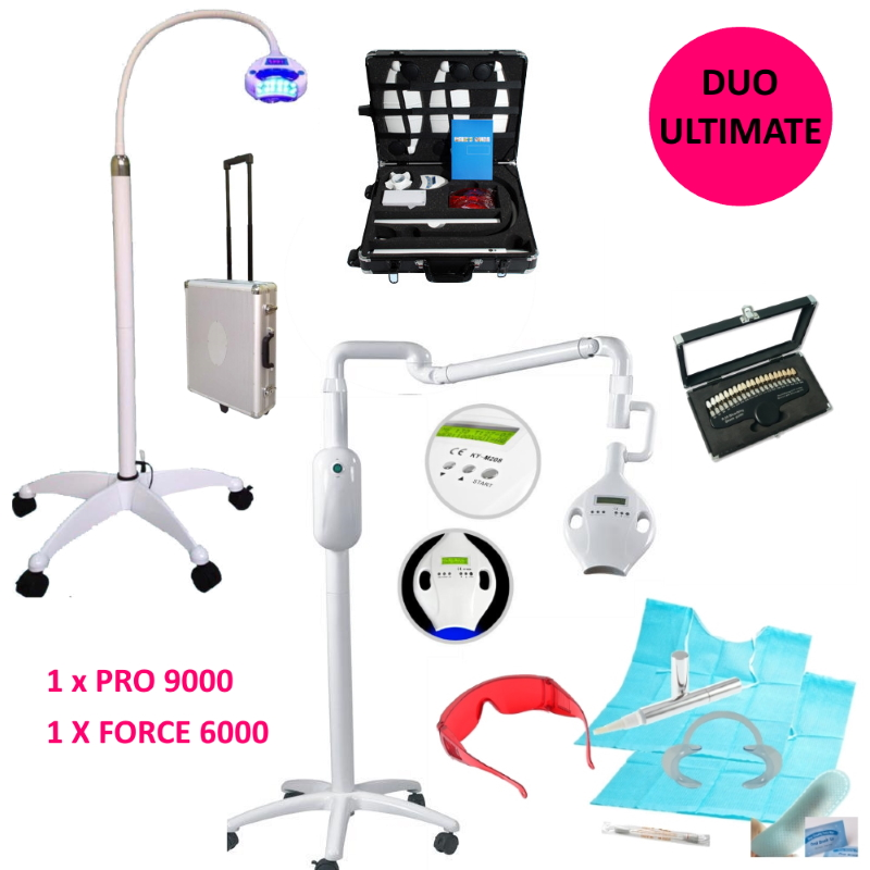 Teeth Whitening Starter Kit DUO FORCE 6000 + PRO 9000
